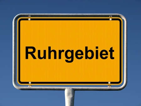 ortsschild: General city entry sign of Ruhrgebiet, Germanys biggest megalopolis