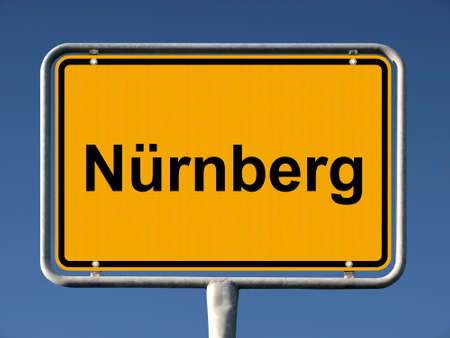 General city entry sign of Nürnberg (Nuremberg), Germany