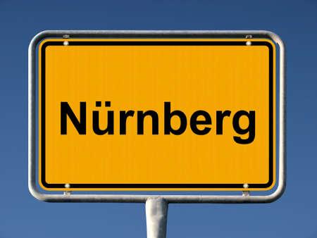 ortsschild: General city entry sign of Nürnberg (Nuremberg), Germany