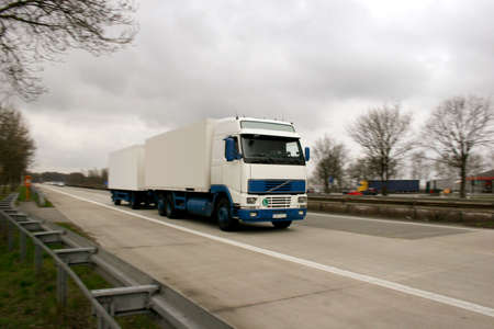Truck on a german highway photo
