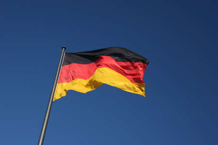 German national flag, the picture was made at the Reichstag in Berlin photo