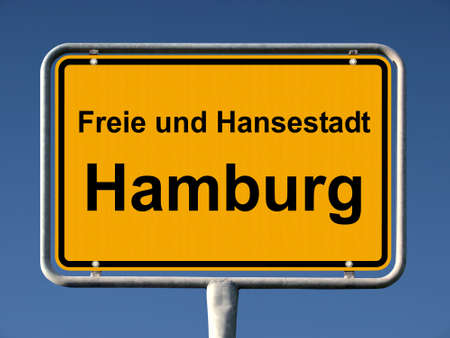 Common city sign of Hamburg, Germany