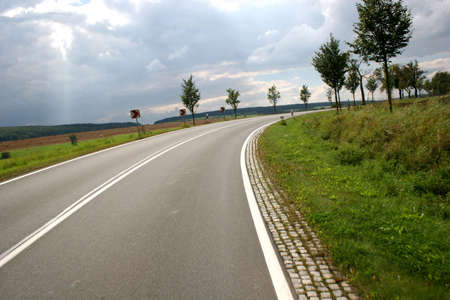 Country road in the german Harz mountains  photo