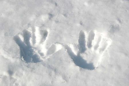 handprints: Handprints in the snow