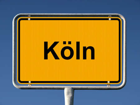 Common city sign of Köln (Cologne), Germany