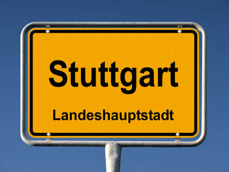 Common city sign of Stuttgart, Germany Stock Photo - 8063356