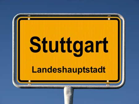 ortsschild: Common city sign of Stuttgart, Germany