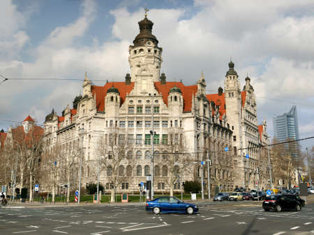 Neues Rathaus (new town hall) in Leipzig, Germany Stock Photo