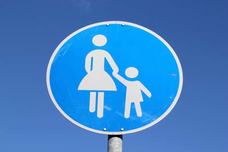 daughter in law: Sign for pedestrians in Germany Stock Photo