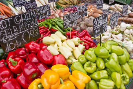 Market with vegetable (at Naschmarkt in Vienna)