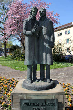 brothers: Brother Grimm sculpture in Kassel, Germany