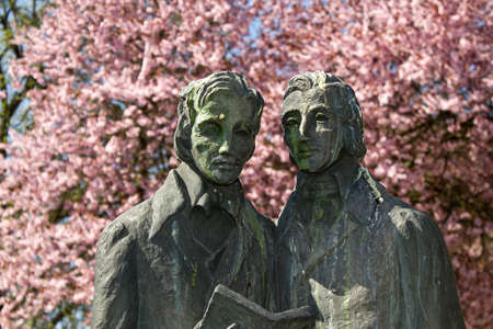 Brothers Grimm sculpture in Kassel, Germany Stock Photo