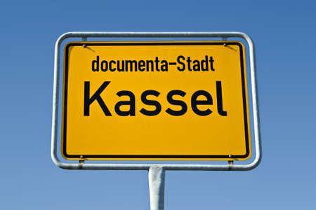 ortsschild: Sign of the german city Kassel