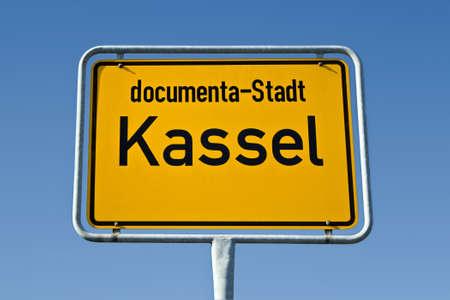 ortsschild: Sign of the german city Kassel