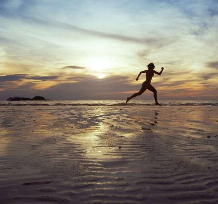 Corriendo hacia adelante, historial deportivo Foto de archivo - 68565409