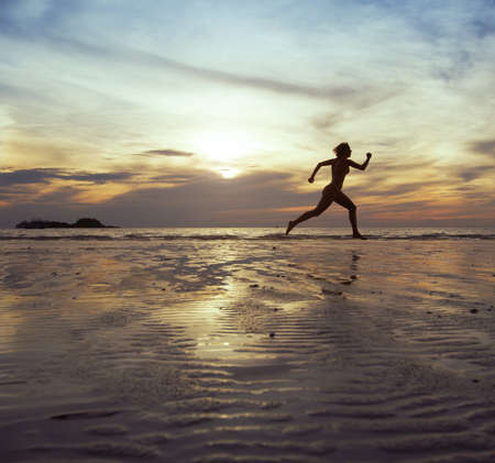 running forward, sport background