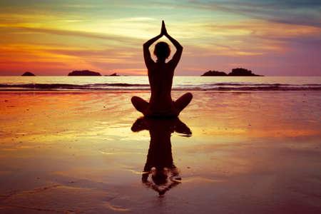 yoga on the beach photo