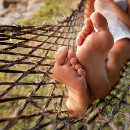 relax in hammock, lazy vacations Stock Photo - 20489204