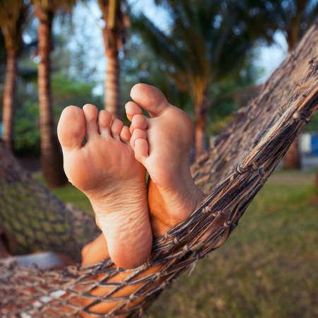woman in hammock photo