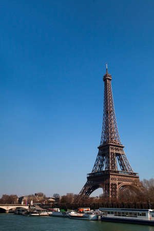 Eiffel Tower and Seine river in France, Paris  photo