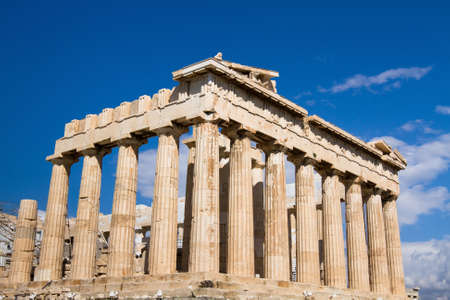 past civilizations: Acropolis in Athens, Parthenon, main landmark of Greece Stock Photo