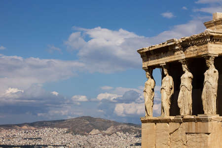 The acropolis: Erectheion, caryatids photo