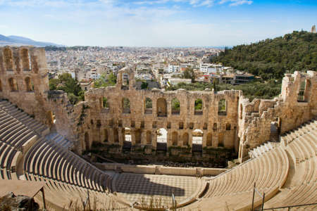 past civilizations: Ancient Odeum of Acropolis, the Theater of Herod Atticus