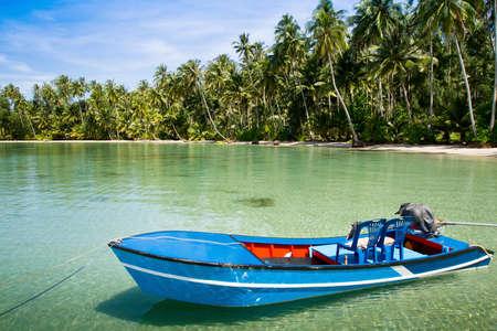 kood: fishing boat on Koh Kood island in Thailand