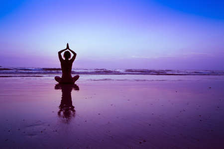 yoga on the beach, meditation