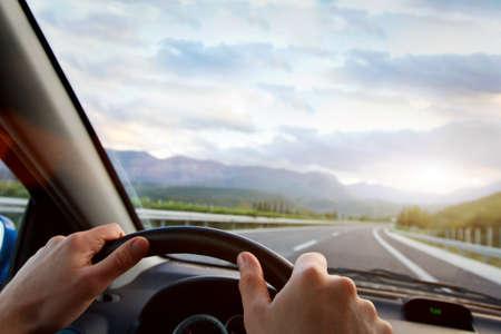 rijdende auto