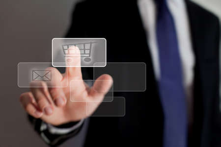 operating system: shopping online Stock Photo