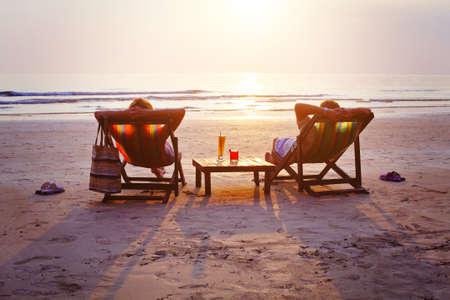 zrelaksować się na plaży Zdjęcie Seryjne