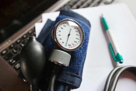 sphygmomanometer: sphygmomanometer Stock Photo