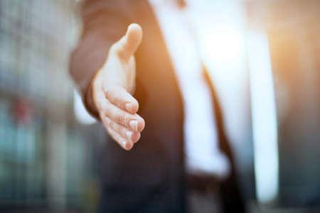 Zakelijk aanbod partnerschap Stockfoto