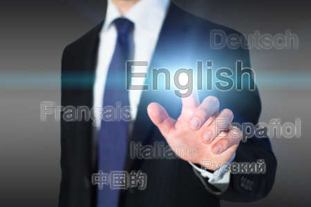 languages: learning english, language school concept