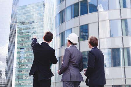business team werken aan nieuw project Stockfoto