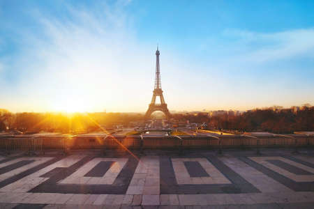 beautiful view of Paris at sunrise