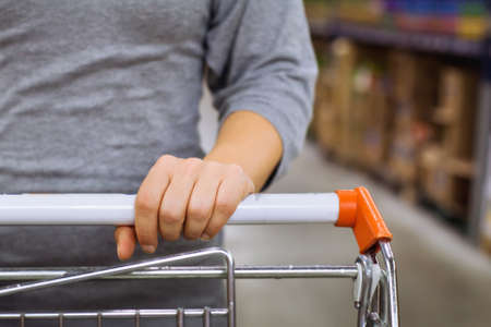 carrito de la compra en el supermercado