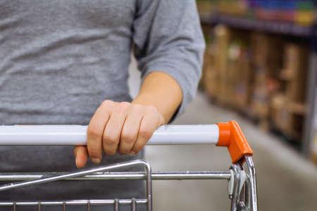 panier dans un supermarché