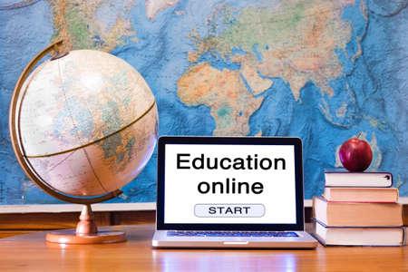 oktatás: E-learning, oktatás online koncepció Stock fotó