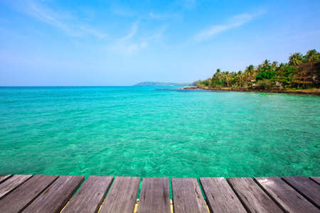 ocean background: tropical beach background Stock Photo