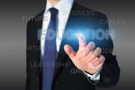 courses: business education concept, professional growth