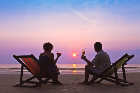middle age couple: couple on the beach