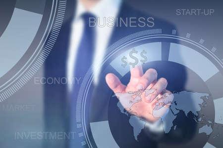 グローバル ビジネス コンセプト、スタートアップ 写真素材