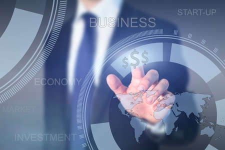 wereldwijde business concept, start-up Stockfoto