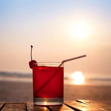 cocktail on the beach 免版税图像