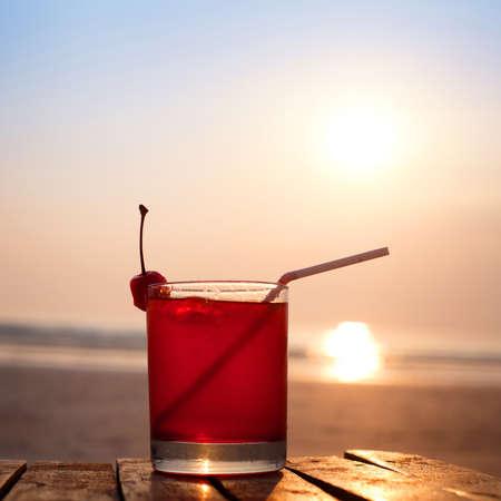 cocktail on the beach Stockfoto