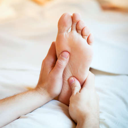 bare feet toes: foot massage