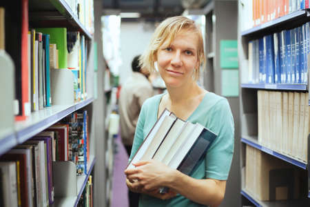german: student with books Stock Photo