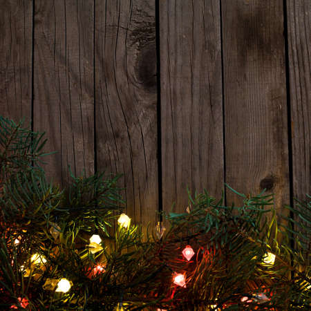 christmas lights background: holiday background with christmas lights Stock Photo